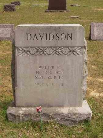 DAVIDSON, WALTER FRED - Izard County, Arkansas | WALTER FRED DAVIDSON - Arkansas Gravestone Photos