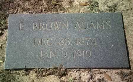 ADAMS, E BROWN - Jackson County, Arkansas | E BROWN ADAMS - Arkansas Gravestone Photos