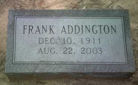 ADDINGTON, FRANK - Jackson County, Arkansas | FRANK ADDINGTON - Arkansas Gravestone Photos