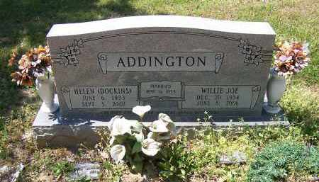 DOCKINS ADDINGTON, HELEN - Jackson County, Arkansas | HELEN DOCKINS ADDINGTON - Arkansas Gravestone Photos