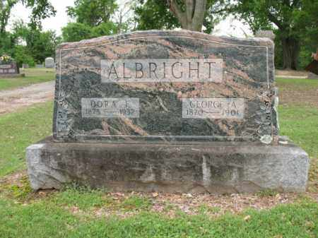 ALBRIGHT, DORA F - Jackson County, Arkansas | DORA F ALBRIGHT - Arkansas Gravestone Photos