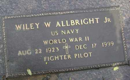 ALLBRIGHT, JR (VETERAN WWII), WILEY W - Jackson County, Arkansas | WILEY W ALLBRIGHT, JR (VETERAN WWII) - Arkansas Gravestone Photos