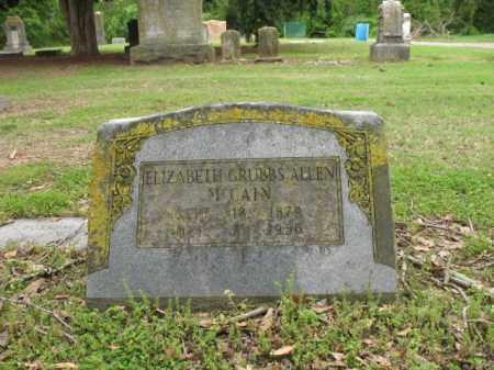 ALLEN MCCAIN, ELIZABETH - Jackson County, Arkansas | ELIZABETH ALLEN MCCAIN - Arkansas Gravestone Photos