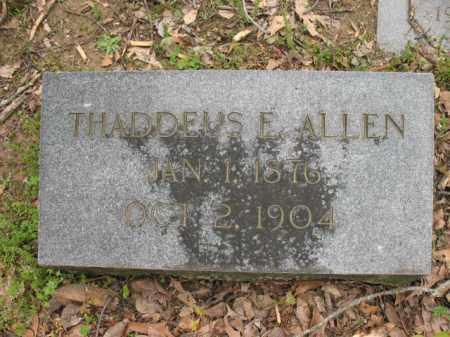 ALLEN, THADDEUS E - Jackson County, Arkansas | THADDEUS E ALLEN - Arkansas Gravestone Photos