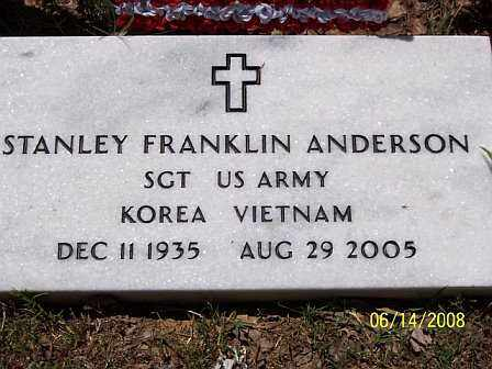 ANDERSON  (VETERAN 2 WARS), STANLEY FRANKLIN - Jackson County, Arkansas | STANLEY FRANKLIN ANDERSON  (VETERAN 2 WARS) - Arkansas Gravestone Photos