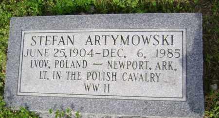 ARTYMOWSKI (VETERAN WWII), STEFAN - Jackson County, Arkansas | STEFAN ARTYMOWSKI (VETERAN WWII) - Arkansas Gravestone Photos