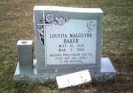MAGOUYRK BAKER, LOUVITA - Jackson County, Arkansas | LOUVITA MAGOUYRK BAKER - Arkansas Gravestone Photos