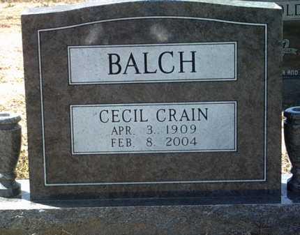 BALCH, CECIL CRAIN - Jackson County, Arkansas | CECIL CRAIN BALCH - Arkansas Gravestone Photos