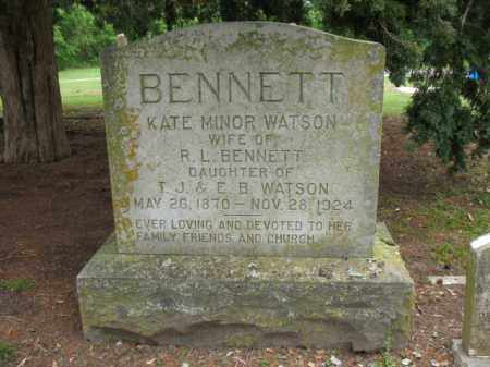 BENNETT, KATE MINOR - Jackson County, Arkansas | KATE MINOR BENNETT - Arkansas Gravestone Photos