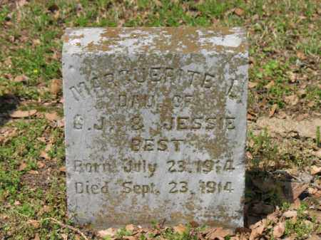 BEST, MARGUERITE L - Jackson County, Arkansas | MARGUERITE L BEST - Arkansas Gravestone Photos