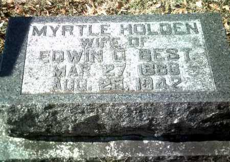 HOLDEN BEST, MYRTLE - Jackson County, Arkansas | MYRTLE HOLDEN BEST - Arkansas Gravestone Photos