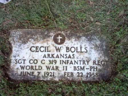 BOLLS (VETERAN WWII), CECIL W - Jackson County, Arkansas | CECIL W BOLLS (VETERAN WWII) - Arkansas Gravestone Photos