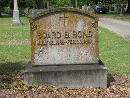 BOND, BOARD B - Jackson County, Arkansas | BOARD B BOND - Arkansas Gravestone Photos