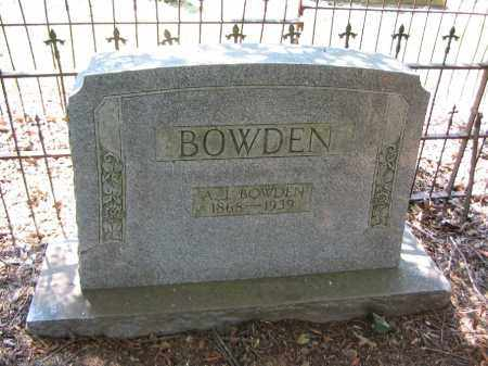 BOWDEN, A.J. - Jackson County, Arkansas | A.J. BOWDEN - Arkansas Gravestone Photos