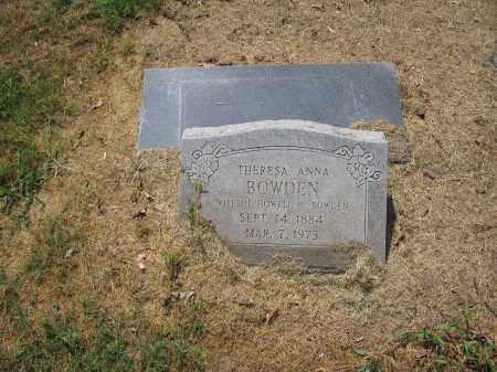 BOWDEN, THERESA ANNA - Jackson County, Arkansas   THERESA ANNA BOWDEN - Arkansas Gravestone Photos