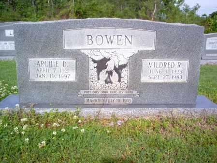 BOWEN, ARCHIE DAVID - Jackson County, Arkansas | ARCHIE DAVID BOWEN - Arkansas Gravestone Photos