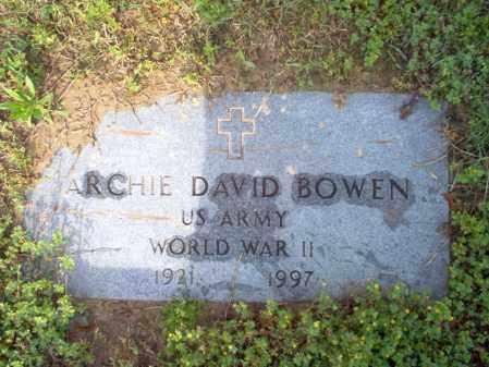 BOWEN (VETERAN WWII), ARCHIE DAVID - Jackson County, Arkansas | ARCHIE DAVID BOWEN (VETERAN WWII) - Arkansas Gravestone Photos
