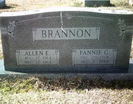 BRANNON, ALLEN E - Jackson County, Arkansas | ALLEN E BRANNON - Arkansas Gravestone Photos