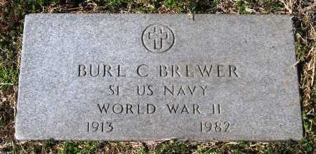 BREWER  (VETERAN WWII), BURL C - Jackson County, Arkansas | BURL C BREWER  (VETERAN WWII) - Arkansas Gravestone Photos