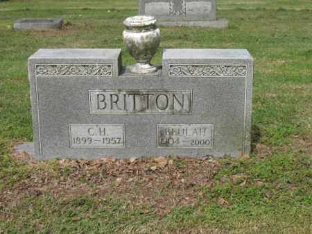 BRITTON, C H - Jackson County, Arkansas | C H BRITTON - Arkansas Gravestone Photos