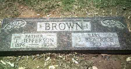 BROWN, J JEFFERSON - Jackson County, Arkansas | J JEFFERSON BROWN - Arkansas Gravestone Photos