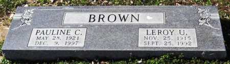 BROWN, LEROY U. - Jackson County, Arkansas | LEROY U. BROWN - Arkansas Gravestone Photos