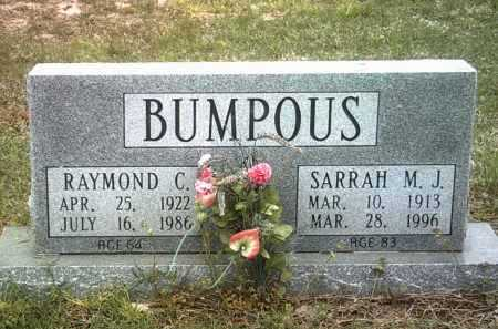 BUMPOUS, SARRAH M J - Jackson County, Arkansas | SARRAH M J BUMPOUS - Arkansas Gravestone Photos