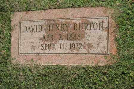 BURTON, DAVID HENRY - Jackson County, Arkansas | DAVID HENRY BURTON - Arkansas Gravestone Photos