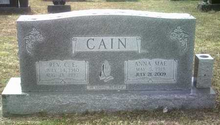 CAIN, REVEREND CLARENCE E - Jackson County, Arkansas | REVEREND CLARENCE E CAIN - Arkansas Gravestone Photos