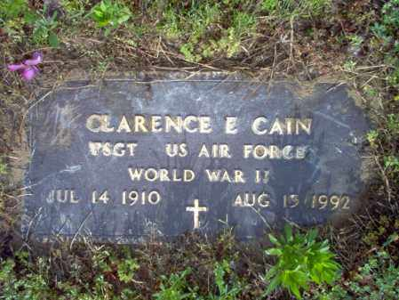 CAIN (VETERAN WWII), CLARENCE E - Jackson County, Arkansas | CLARENCE E CAIN (VETERAN WWII) - Arkansas Gravestone Photos