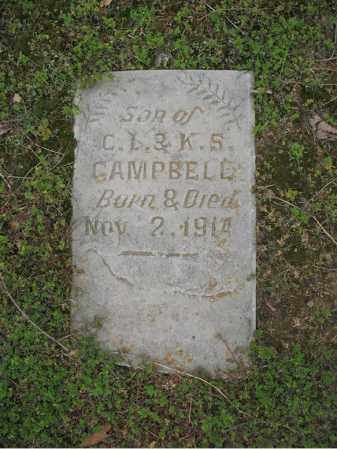 CAMPBELL, INFANT SON - Jackson County, Arkansas | INFANT SON CAMPBELL - Arkansas Gravestone Photos