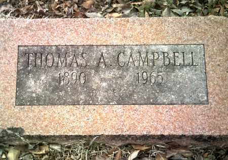 CAMPBELL, THOMAS A - Jackson County, Arkansas | THOMAS A CAMPBELL - Arkansas Gravestone Photos