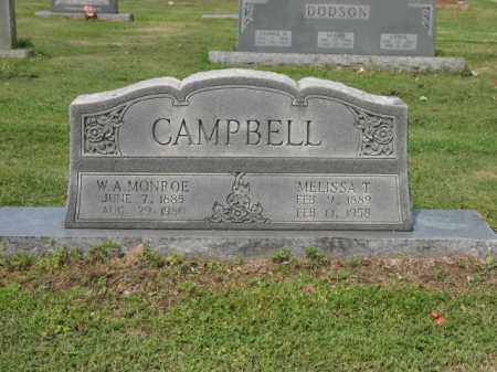 CAMPBELL, MELISSA T - Jackson County, Arkansas | MELISSA T CAMPBELL - Arkansas Gravestone Photos