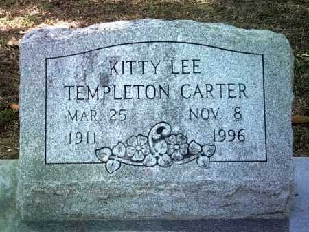 TEMPLETON CARTER, KITTY LEE - Jackson County, Arkansas | KITTY LEE TEMPLETON CARTER - Arkansas Gravestone Photos
