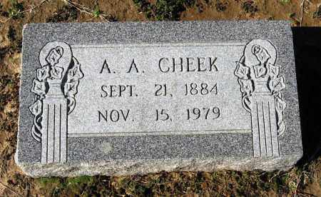 CHEEK, A A - Jackson County, Arkansas | A A CHEEK - Arkansas Gravestone Photos