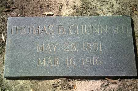 CHUNN, MD, THOMAS D - Jackson County, Arkansas | THOMAS D CHUNN, MD - Arkansas Gravestone Photos