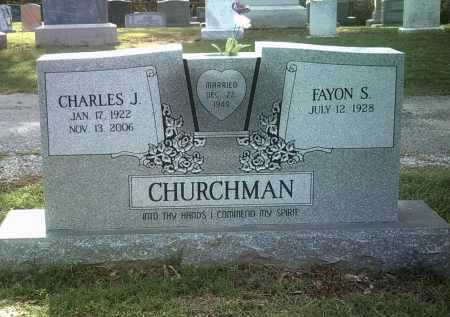 CHURCHMAN, CHARLES JOE - Jackson County, Arkansas | CHARLES JOE CHURCHMAN - Arkansas Gravestone Photos