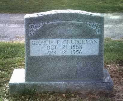 CHURCHMAN, GEORGIA E - Jackson County, Arkansas | GEORGIA E CHURCHMAN - Arkansas Gravestone Photos