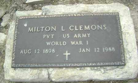 CLEMONS (VETERAN WWI), MILTON L. - Jackson County, Arkansas | MILTON L. CLEMONS (VETERAN WWI) - Arkansas Gravestone Photos