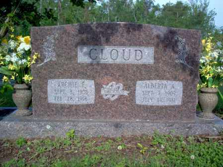 CLOUD, ARCHIE F - Jackson County, Arkansas | ARCHIE F CLOUD - Arkansas Gravestone Photos
