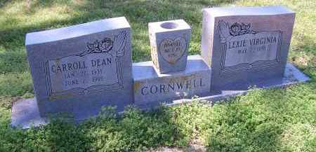 CORNWELL, CARROLL DEAN - Jackson County, Arkansas | CARROLL DEAN CORNWELL - Arkansas Gravestone Photos