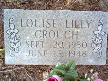 CROUCH, LOUISE LILLY - Jackson County, Arkansas | LOUISE LILLY CROUCH - Arkansas Gravestone Photos