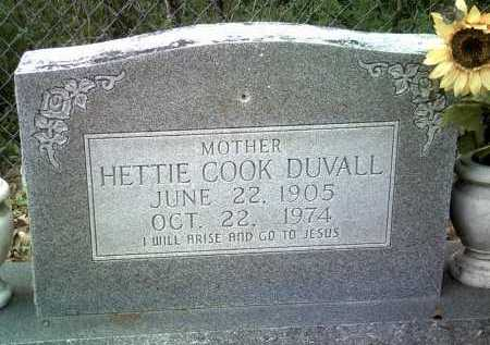 COOK DUVALL, HETTIE - Jackson County, Arkansas | HETTIE COOK DUVALL - Arkansas Gravestone Photos