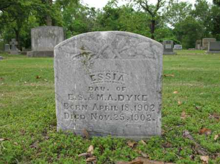DYKE, ESSIA - Jackson County, Arkansas | ESSIA DYKE - Arkansas Gravestone Photos