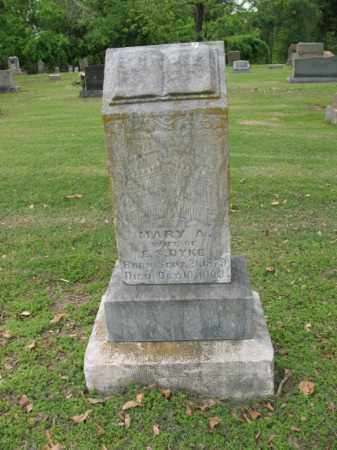 DYKE, MARY A - Jackson County, Arkansas | MARY A DYKE - Arkansas Gravestone Photos