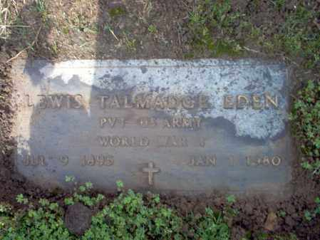 EDEN (VETERAN WWI), LEWIS TALMADGE - Jackson County, Arkansas | LEWIS TALMADGE EDEN (VETERAN WWI) - Arkansas Gravestone Photos