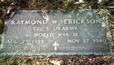 ERICKSON (VETERAN WWII), RAYMOND W - Jackson County, Arkansas | RAYMOND W ERICKSON (VETERAN WWII) - Arkansas Gravestone Photos