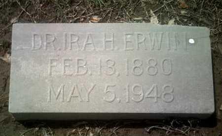 ERWIN, DR IRA H - Jackson County, Arkansas | DR IRA H ERWIN - Arkansas Gravestone Photos