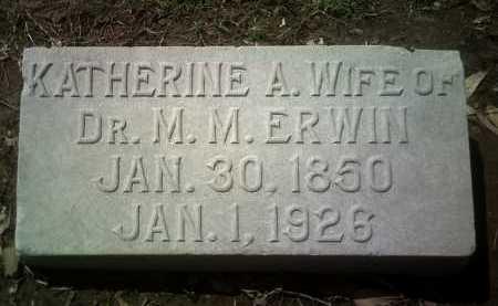 ERWIN, KATHERINE A - Jackson County, Arkansas | KATHERINE A ERWIN - Arkansas Gravestone Photos