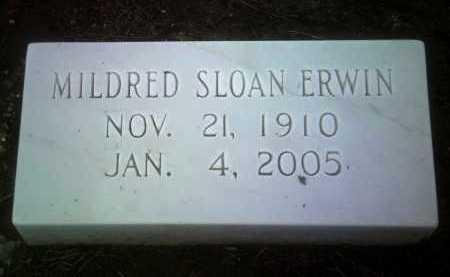 SLOAN ERWIN, MILDRED - Jackson County, Arkansas | MILDRED SLOAN ERWIN - Arkansas Gravestone Photos